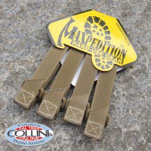 "Maxpedition - 3"" TacTie Straps 4x Pack - Khaki - 9903K"