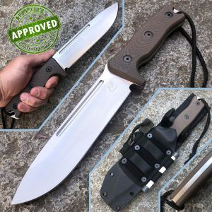 Knife Research - Legion knife - PRIVATE COLLECTION - Brown G10 knife