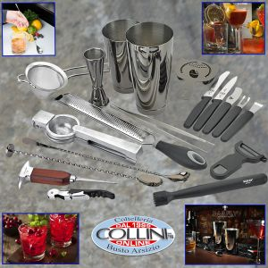 Mercer - Deluxe Stainless Steel 18-Piece Bar Cocktail Kit