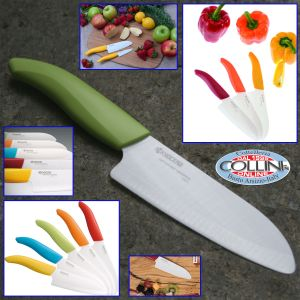 Kyocera - Ceramica Kyo Fine White - Santoku Knife 14 cm - coltello ceramica