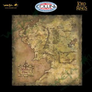 Weta Workshop - Map of Middle Earth - Lord of the Rings