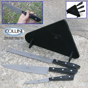 Berti - Set Compendio 3 pezzi plexiglas nero - coltelli