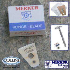 Merkur Solingen - 10 Lamette per il rasoio di sicurezza barba, baffi, basette - 907 000