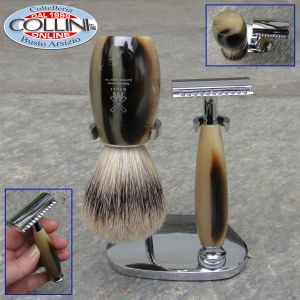 Muhle - Shaving set with resin handle, mock horn
