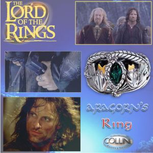 Lord of the Rings - Aragorn's Ring 19mm