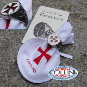 Anello - Sigillo Templare Smaltato 21mm - 804/21.01 - Medioevo