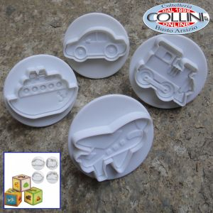 Pavoni - Cookie cutters with extractor4 pcs. 60 mm