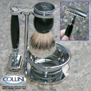 Muhle - SOPHIST - Shaving set  with safety razor, handle material made of high-grade resin black