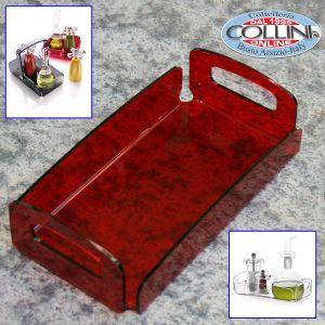 Giannini - Carrier rectangular methacrylate - Extragourmet - Red