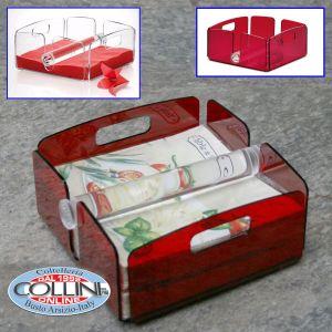 Giannini - Napkin holder Methacrylate - Extragourmet -Red