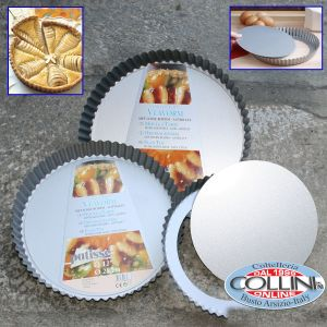 Patisse - Non-stick tart pan with removable botton cm. 30 - Silver Top