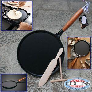 Staub - Cast - Iron Crêpe Pan with Spreader & Spatula