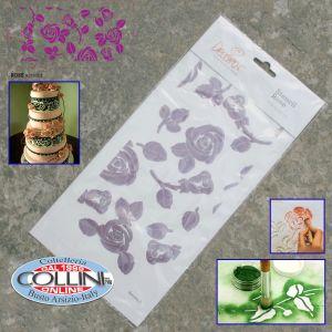 Decora - Stencil Rosa - Cake design