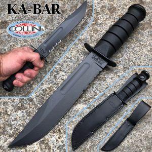 Ka-Bar - Black Fighting Knife - 02-1212 - Leather Sheath - knife