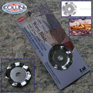 Kai - Disco ricambio taglio ondulato per rotella - tessuto