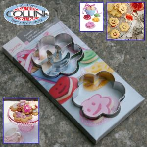 Stadter - Cookie cutter  smiley  FLOWER - Stainless Steel 2-pcs (household items)