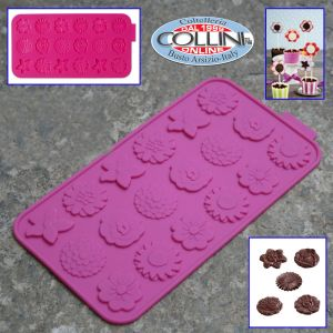 Städter - Silicone mold for chocolate flowers