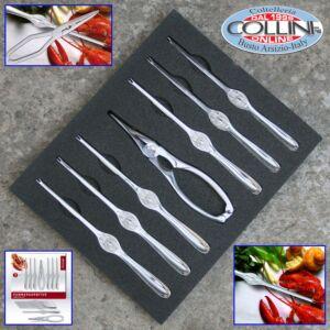 Triangle - Lobster Set - 1 lobster scissors + 6 forks