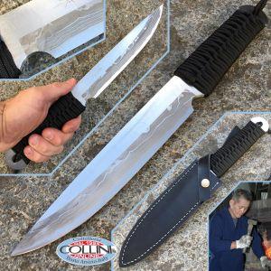 Takeshi Saji - Mikaduki 180 Black - Handmade Knife