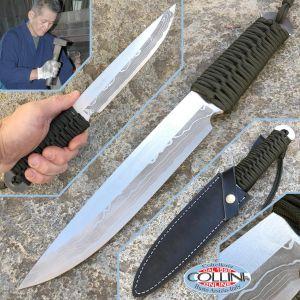 Takeshi Saji - Mikaduki 180 Green - Handmade Knife
