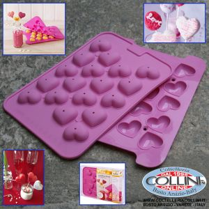 Birkmann - Silicone mold for Cake Pops Heart - 2pz ( home items )