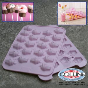 Birkmann - Silicone mold for Cake Pops shaped cupcakes - 2pz