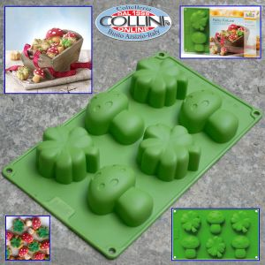 Birkmann - Silicone mold Petite Fortune - 6 pieces