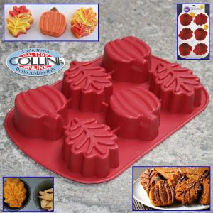 Wilton - 6 - autumn leaves pumpkins silicone mold
