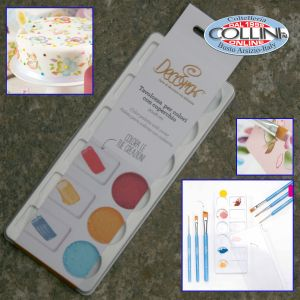 Decora - Cake- painting palette for color with lid