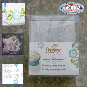 Decora - Painting cake - Set 5 Imprimi Decori Primula - 9271031
