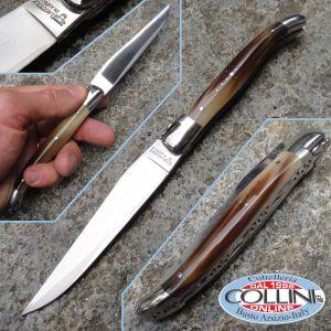 Laguiole En Aubrac - Horn blond with sanmai Japanese blade - knife collection