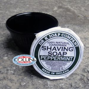 Dr K Soap Company - shaving soap with ceramic bowl - peppermint - Made in Ireland