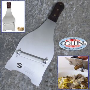 Made in Italy - Large stainless steel truffle slicer in rosewood