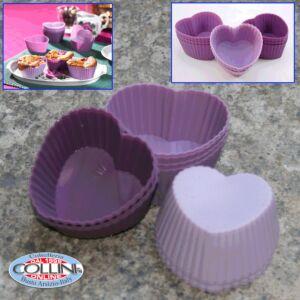 Lurch - Set muffin cuore in silicone 12 pezzi