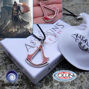 Assassin's Creed - Ciondolo con Sigillo degli Assassini - Smalto Rosso AS80.76 - Ubisoft - collana abbigliamento