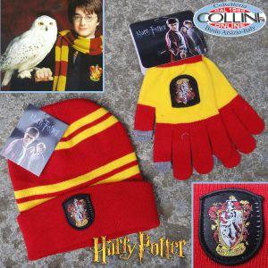 Harry Potter - Gryffindor Hat + Gloves Yellow / Red - Cinereplicas