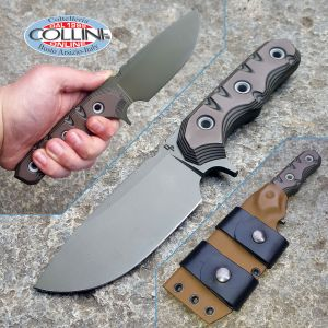 Wander Tactical - Lynx - Titanium GunKote & Chocolate G10 - custom knife