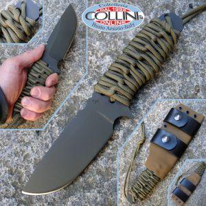 Wander Tactical - Lynx Gun Kote OD Green Paracord - custom knife