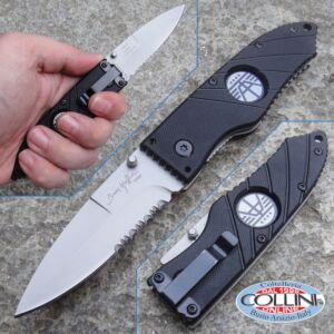 """Hoffner - Black Flatline Folding 2.8 """"Satin Combo - FK-S2CSS-FB - knife"""
