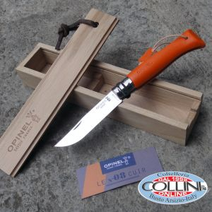 Opinel - Cuir Orange 8 with leather handle - limited edition 335pz - knife