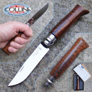 Opinel - 8 - polished blade steel and Amourette wood - knife