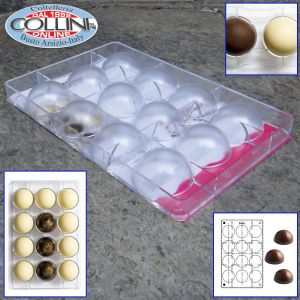 Made in Italy - Mold half spheres polycarbonate for chocolate - pieces 16