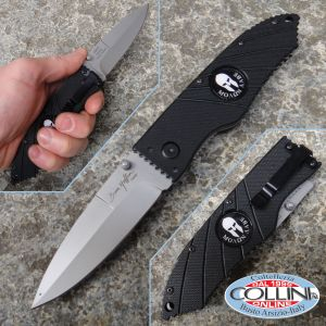 "Hoffner - Black Flatline Molon Labe Folding 3.5 ""Satin - FK-S3CSS-FB - knife"