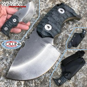 Wander Tactical - Tryceratops Iron Washed and Black Micarta - custom knife