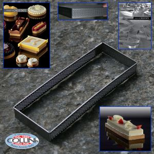 Pavoni - frames stainless perforated rectangle 7x19 cm. PIES PROJECT