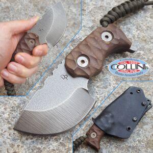 Wander Tactical - Tryceratops Raw Finish and Darkwood Micarta - custom knife