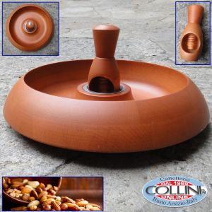 Giannini - Wooden Bowl for  nuts with nutcrackers