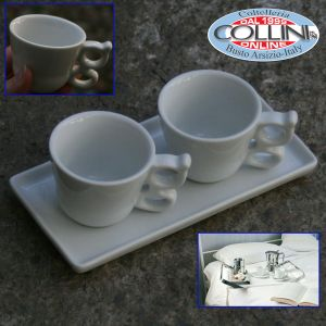 Giannini - Breakfast set for two - 2 cups with tray