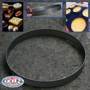 Pavoni - Round micro perforated stainless steel bands 19 CM - PROGETTO CROSTATE XF1920