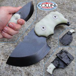 Wander Tactical - Tryceratops Scandi - OD Black & Natural G10 - custom knife